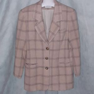 Lands End plaid wool jacket